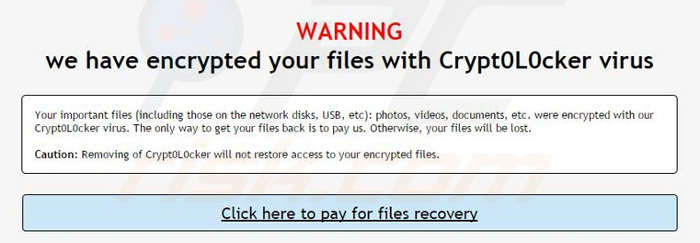 encrypted cryptolocker crypt0l0cker komunikat